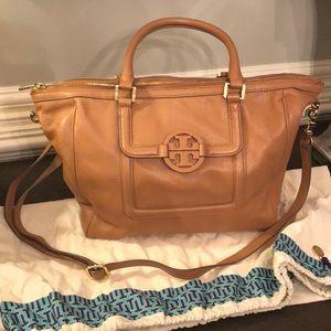 Tory Burch Amanda Tote Taupe Leather Hobo Bag